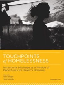cover image of Touchpoints of Homelessness report